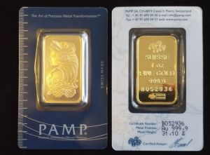 Pure Gold Swiss Pamp Bars La Jolla Coin Shop